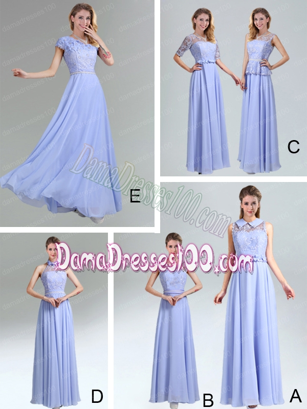 2015 Modest Belt Empire Dama Dress in Lavender