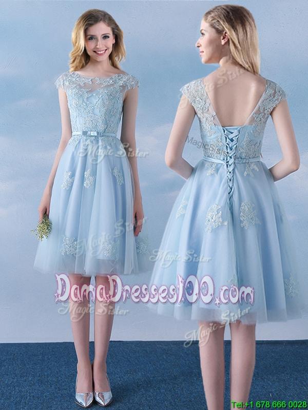 Short Blue Dama Dresses