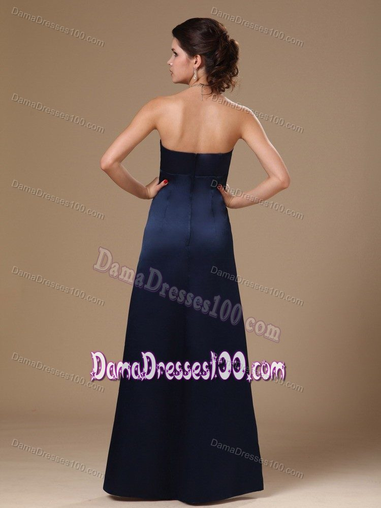 Navy Blue Sweetheart V-neck Dama Dresses For Quinceanera