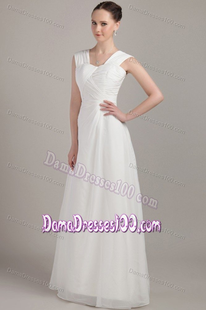 Collection White Graduation Dresses Long Pictures - Reikian