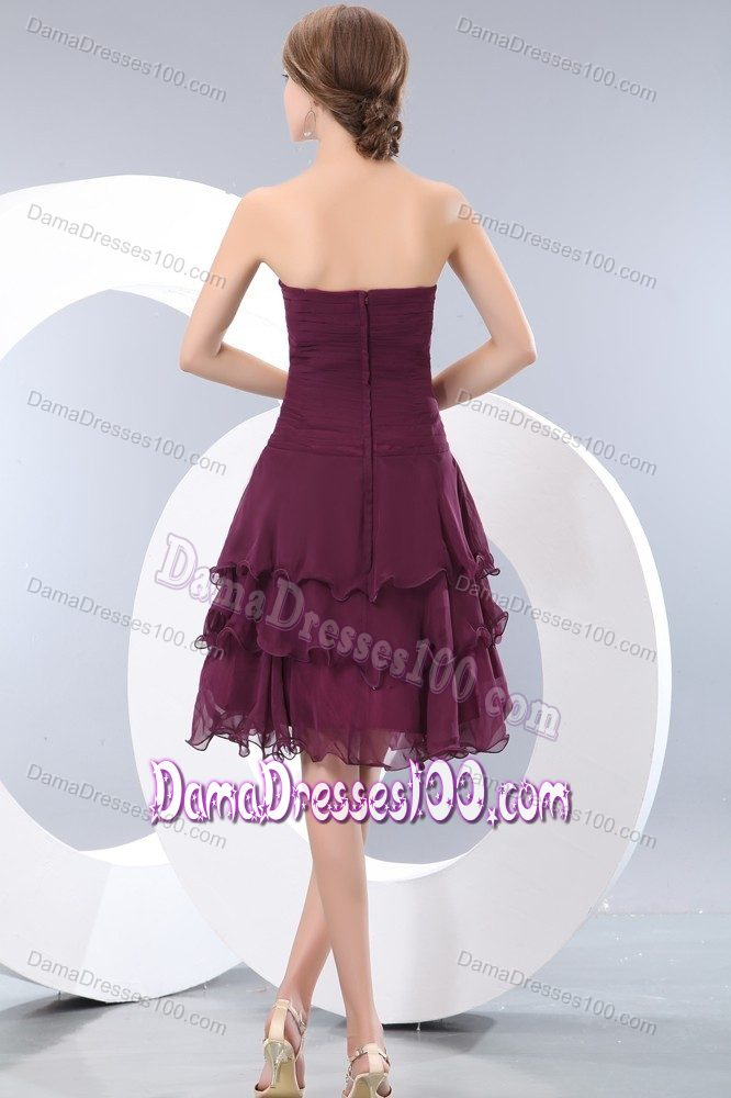 Cheap Damas Dresses For Quince Burgundy Strapless With Ruches