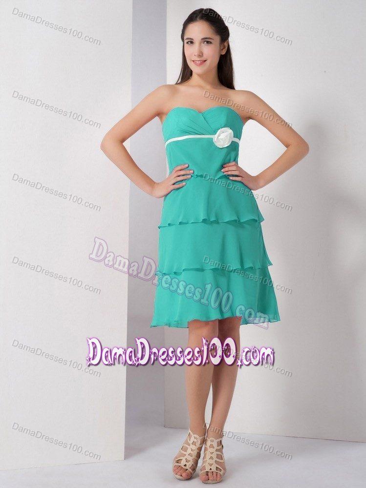 Knee length Quinceanera Dama Dresses for Sale