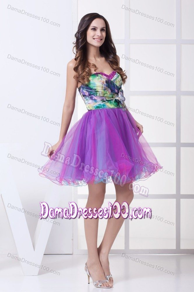Silver And Purple Dama Dresses - Missy Dress