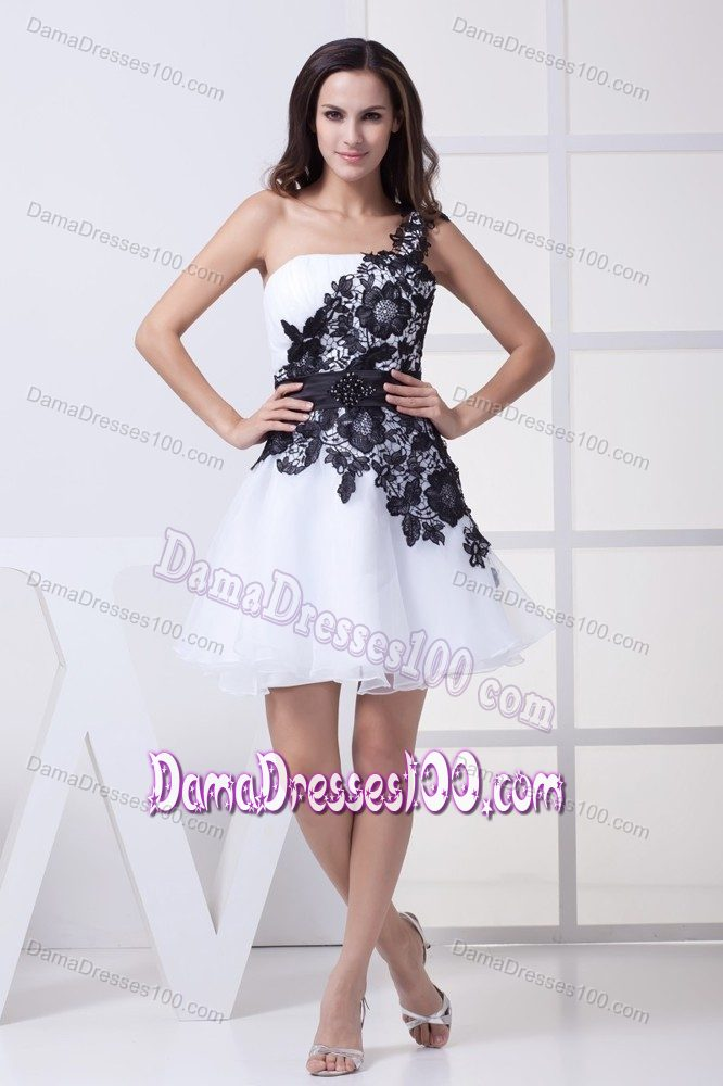 White And Black Dama Dresses 2017 Cheap 15 Dresses