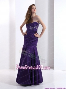 2015 Popular Dama Dresses with Beading and Ruching