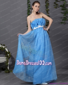 2015 Dama Prom Dresses with Hand Made Flowers and Sash