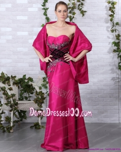 2015 Popular Sweetheart Floor Length Dama Dresses with Beading