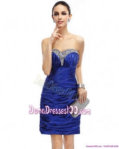 Popular Sweetheart Fabulous Dama Dresses with Ruching and Beading