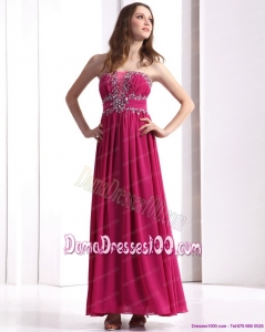 Sophisticated Strapless Floor Length 2015 Long Dama Dress with Beading