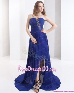 2015 Sweetheart Fabulous Dama Dresses with Beading and Brush Train