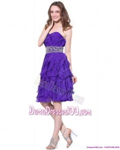 Popular Sweetheart Ruffled Plus Size Dama Dresses with Appliques