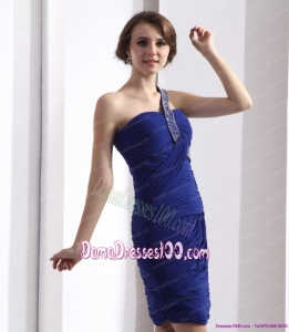 One Shoulder Dama Dresses with Ruffles and Beading
