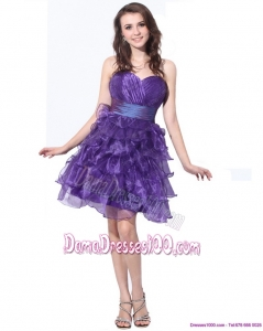 Pretty Sweetheart Short Plus Size Dama Dresses with Ruffled Layers