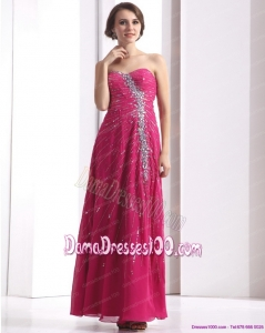 2015 Pretty Sweetheart Floor Length Dama Dress with Beading
