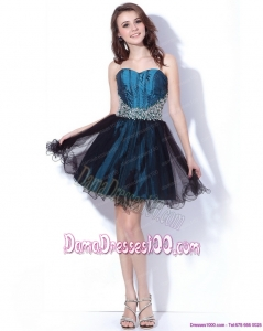 Multi Color Sweetheart Sequined and Ruffled Dama Dresses for 2015