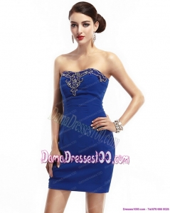 The Most Popular Strapless Short 2015 Dama Dresses with Appliques