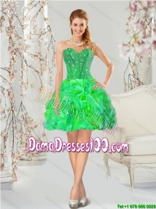 Elegant Multi-color Group Buying Dama Dresses with Beading and Ruffles