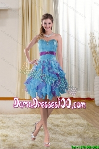 Junior Sweetheart 2015 Dama Dresses with Ruffles and Beading