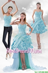 Perfect Sweetheart 2015Group Buying Dama Dresses with Beading and Ruffled Layers
