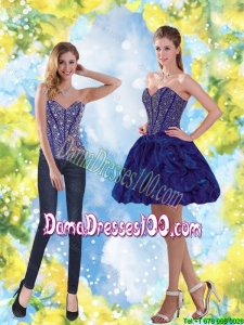Dynamic Beading and Ruffles Sweetheart Dama Dress for 2015