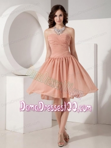 Customize Simple Empire Sweetheart Chiffon Ruched Dama Dress