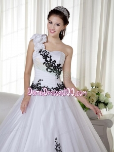 b20246c47f0 White Ball Gown One Shoulder Floor-length Taffeta and Organza Embroidery  Quinceanera. triumph. Loading zoom. This is a finished dress tailored and  ...