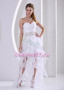 Stylish Ruffles Design Own Dama Dress With Beading and Ruch in Summer