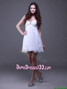 2016 Classical Mini Length White Dama Dresses with Sweetheart