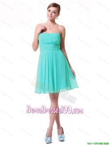 2016 Discount Strapless Mini Length Dama Dresses in Turquoise