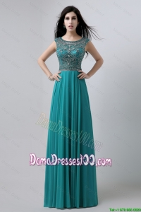 Cute Bateau Floor Length Dama Dresses with Beading