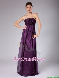 Perfect Ruched Sweetheart Dama Gowns with Hand Made Flowers