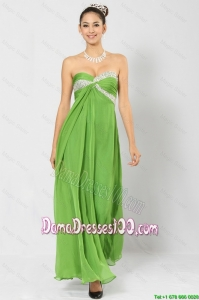 Most Popular Sweetheart Ankle Length Dama Dresses with Sequins