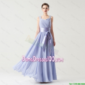 Hot Sale Straps Dama Gowns with Bowknot and Beading