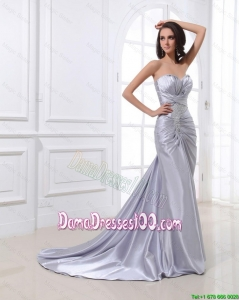 Sweet Mermaid Sweetheart Brush Train Sequins Dama Dresses