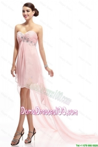 Best Selling Sweetheart Beaded Dama Gowns with High Low