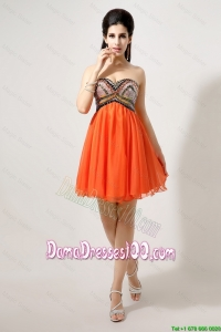 Wholesales Beaded and Sequined Dama Dresses in Orange