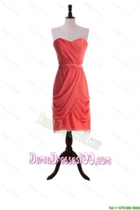 Most Popular Short Dama Dresses with Belt and Ruching