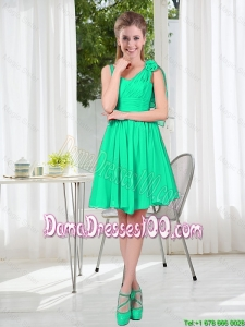 Popular A Line Straps 2015 Dama Dress for Wedding Party