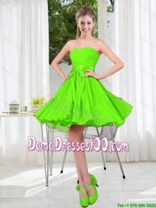 2016 Summer A Line Sweetheart Dama Dresses in Spring Green