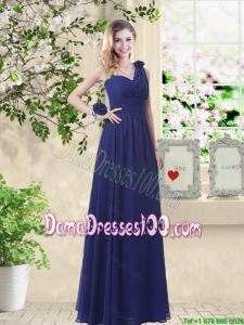 Classical Hand Made Flowers Dama Dresses with Asymmetrical