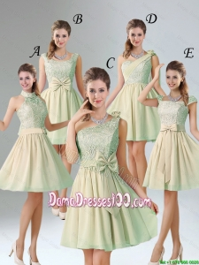 Custom Made A Line Lace Dama Dresses with Hand Made Flower