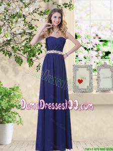 Pretty Ruched and Sequined Dama Dresses with Sweetheart