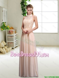 Elegant Laced and Bowknot Dama Dresses with Halter Top
