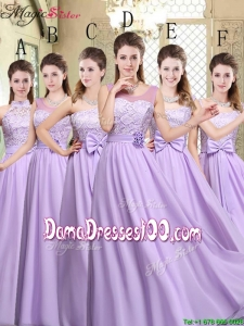 Hot Sale Empire Lavender 2016 Group Buying Dama Dresses