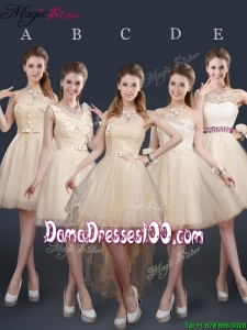 Sweet Short Dama Dresses with Appliques and Belt