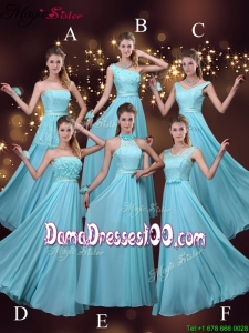 2016 Cheap Empire Aqua Blue Group Buying Dama Dresses