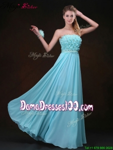 Most Popular Empire Strapless Dama Dresses with Appliques