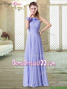 Sweet Empire Halter Top Dama Dresses in Lavender
