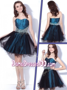 2016 Lovely Sweetheart Beading Short Dama Dressess for Homecoming