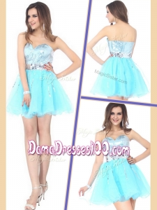 Beautiful Short Sweetheart Sequins Dama Dresses for Cocktail